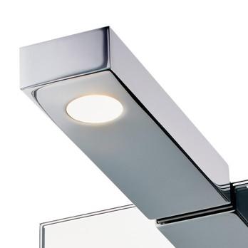 Decor Walther - Flat 1 LED Spiegelleuchte - chrom/für Spiegelstärke max 6mm/3000K/370lm/LxBxH 16.2x5x2.5cm