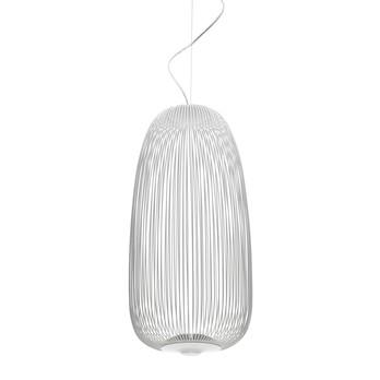 Foscarini - Spokes 1 LED-Pendelleuchte - weiß/2700K/2780lm/H71cm/Ø32.5cm