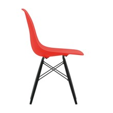 Vitra - Eames Plastic Side Chair DSW Maple Black H43cm