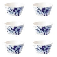 Royal Doulton - Pacific Splash granen kom set van 6 Ø15cm