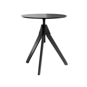 Magis - Topsy The Wild Bunch Side Table Ø60cm - black/HPL/frame beech /H: 64-80cm/black lacquered