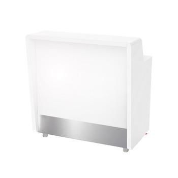 - Moree - Barelement beleuchtet - weiß/108 x 70 x 110 cm/Für den Innenbereich