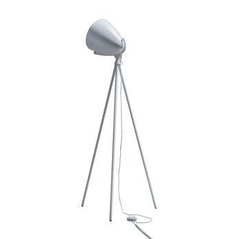 Pallucco - Faro Next LED Stehleuchte - weiß/lackiert/Gestell eiche glasiert/3000K/3500lm/mit Dimmer