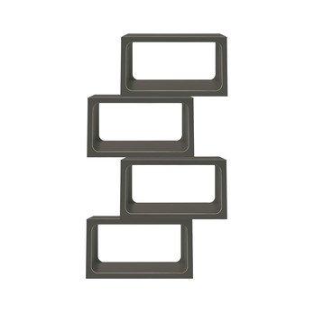 müller möbelwerkstätten - Boxit Regal 4er Set  - anthrazit/CPL-Beschichtung/1 Modul BxHxT 80x44x35cm