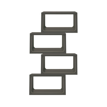 - Boxit Regal 4er Set  - anthrazit/CPL-Beschichtung/1 Modul BxHxT 80x44x35cm