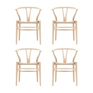 Carl Hansen - Carl Hansen Wishbone CH24 Armchair Set Of 4
