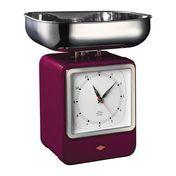 Wesco - Wesco Retro Waage mit Uhr - brombeer