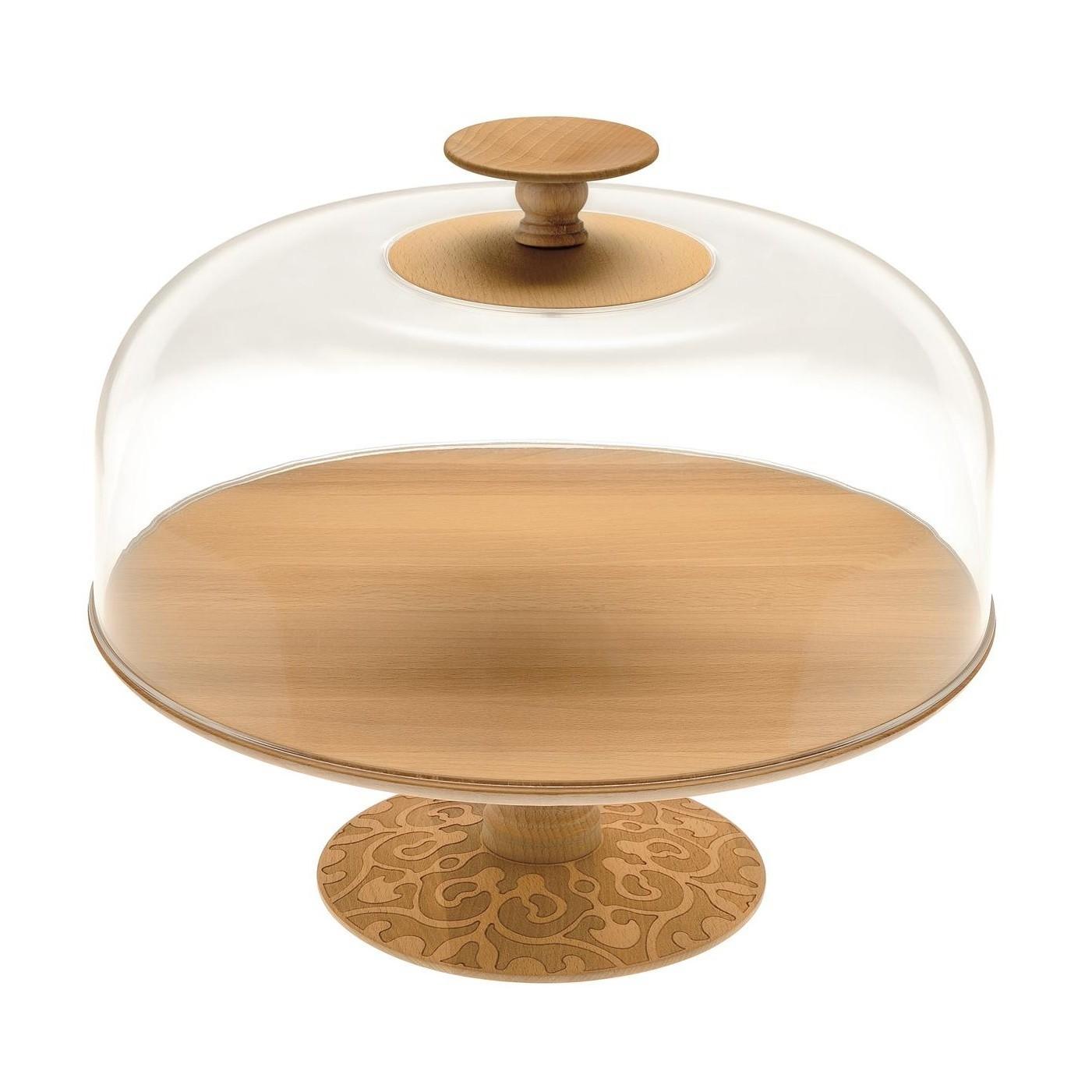 alessi dressed in wood tortenplatte hoch ambientedirect. Black Bedroom Furniture Sets. Home Design Ideas