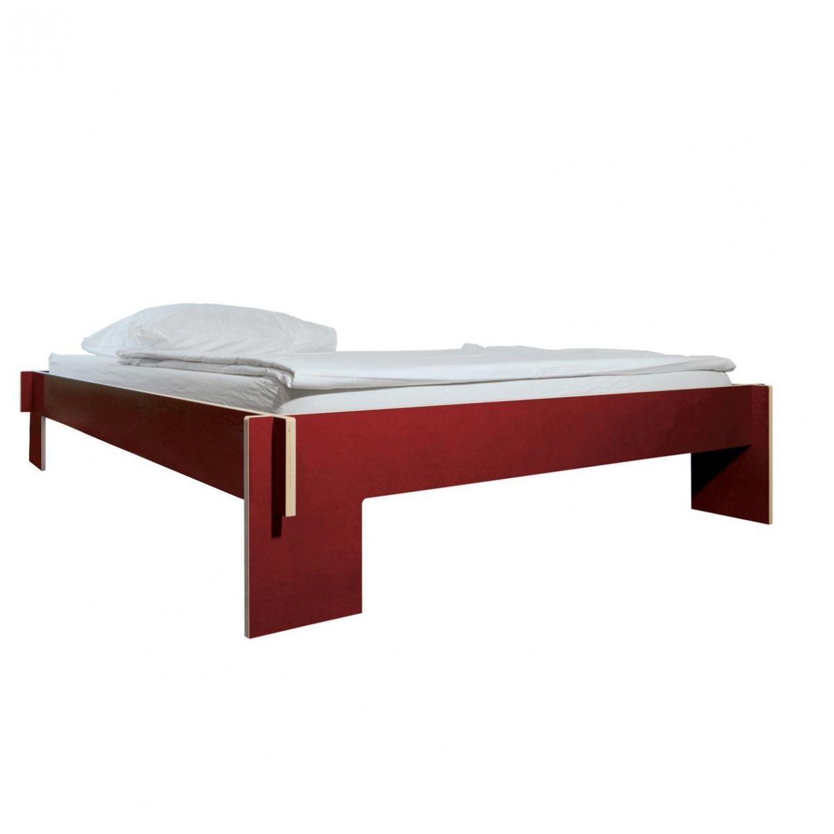 ... - Siebenschläfer Bett - rot/140x200cm/ohne Lattenrost und Matratze