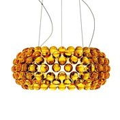 Foscarini - Caboche Media Sospensione LED-Pendelleuchte - goldgelb/inkl. Leuchtmittel