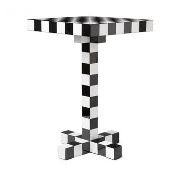 Moooi - Moooi Chess Tisch - schwarz/weiß/40x40x60cm