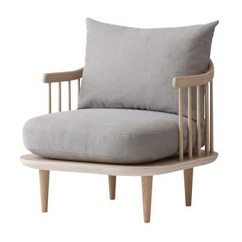 &tradition - FLY Chair SC10 Sessel - beige/Stoff Hot Madison 094/Gestell weiß geölte Eiche