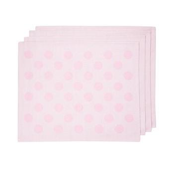 HAY - S&B Tischset mit Punkten 4 Stück  - rosa/Stoff/45x35cm/4 Stück