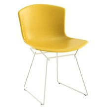 Knoll International - Bertoia Plastic Side Chair Stuhl Gestell weiß