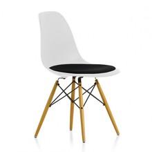 Vitra - Eames Plastic Side Chair DSW gepolstert H43cm