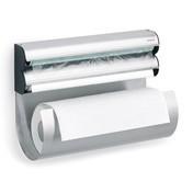 Blomus - Obar Küchenrollenhalter - silber/schwarz/matt/H 23,5 cm/inkl. Befestigungsset für die Wandmontage