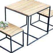 Jan Kurtz - Alois Mini Garden Set - robinia/frame anthracite powder-coated/1 table + 2 benches