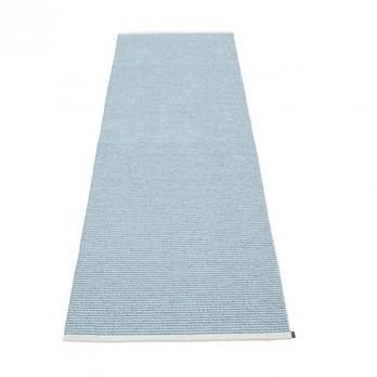 pappelina - Mono Teppich 85x260cm - ice blue/misty blue