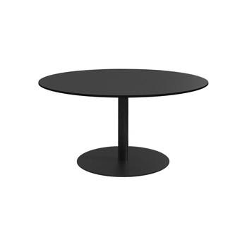 la palma - Auki Beistelltisch H: 40cm - schwarz/lackiert/h 40cm / Ø60cm/Tischplatte in HPL Fenix