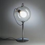 Artemide - Miconos Tavolo Tischleuchte - chrom/Metall/Glas/H 60cm/Ø 25cm/Einzelstück - nur einmal verfügbar!