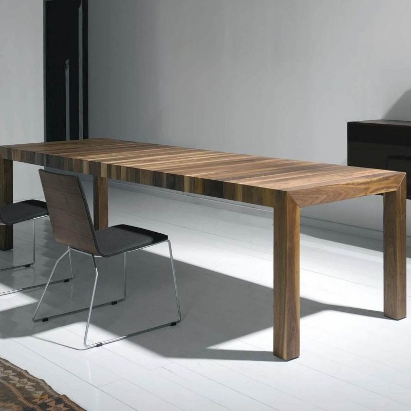 Volta Solid Wood Dining Table Extendable More
