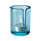Muuto - Match Teelichthalter - hellblau/H: 8cm/Ø 6cm