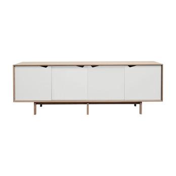 - Andersen Furniture S1 Sideboard  - eiche geseift/alpinoweiß/L 200 x T 50 x H 68 cm