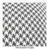 Kartell - Largo 3-Sitzer Sofa - grau/Stoff Pied de Poule TG grau/Gestell Stahl schwarz lackiert/301x69x96cm/Lieferung ohne Kissen