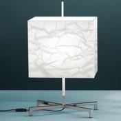 Fontana Arte - Elvis Tischleuchte - weiß/Gestell verchromt