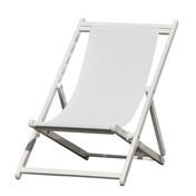 Jan Kurtz - Rimini Liegestuhl - weiß/Gestell weiß/3-fach höhenverstellbar durch Raster