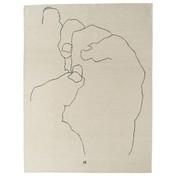 Nanimarquina - Chillida Teppich - Mano 1993 - beige/schwarz/Neuseeland-Wolle/124.000 Knoten/m2/184x240cm