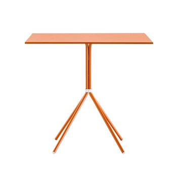 Pedrali - Nolita 5454 Gartentisch 70x70cm - terrakotta/Tischplatte lackiert