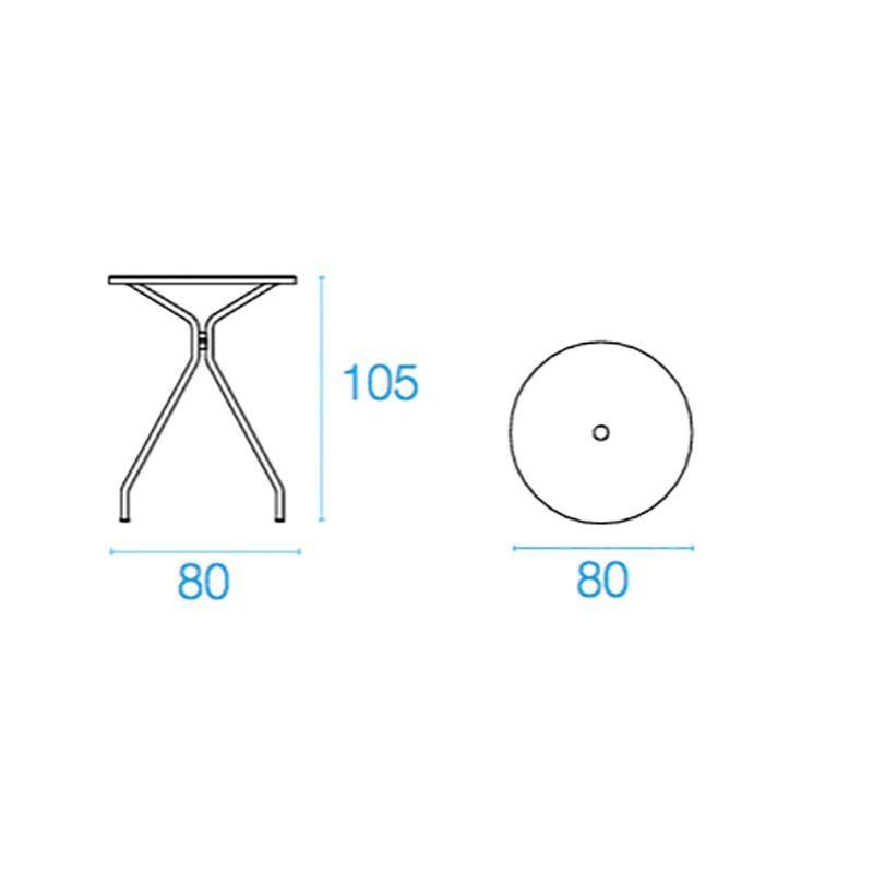 emu Solid - Table de bistrot de jardin Ø80cm | AmbienteDirect