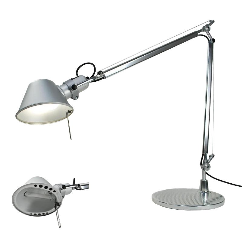Artemide tolomeo desk table halo lamp aluminium