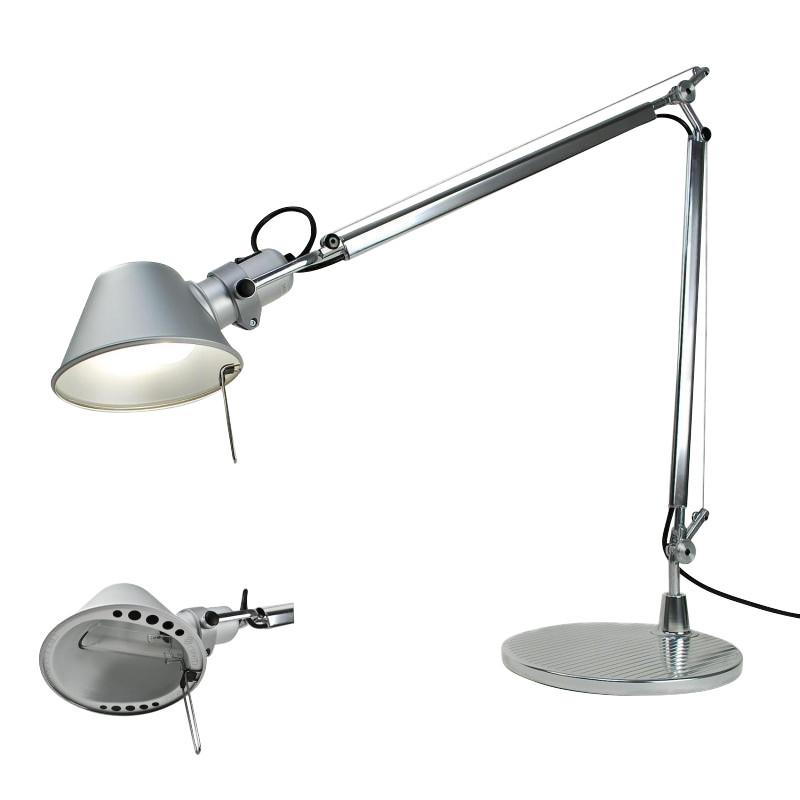 Artemide - Tolomeo Desk Table HALO Lamp - aluminium ... - Tolomeo Tavolo HALO Desk Lamp Artemide AmbienteDirect.com