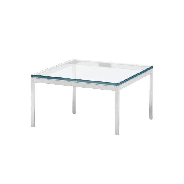 Knoll International   Florence Knoll Coffee Table 60x60cm   Transparent/crystal  Glass/frame Chrome