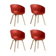 HAY - About a Chair 22 Armlehnstuhl Eiche 4er Set