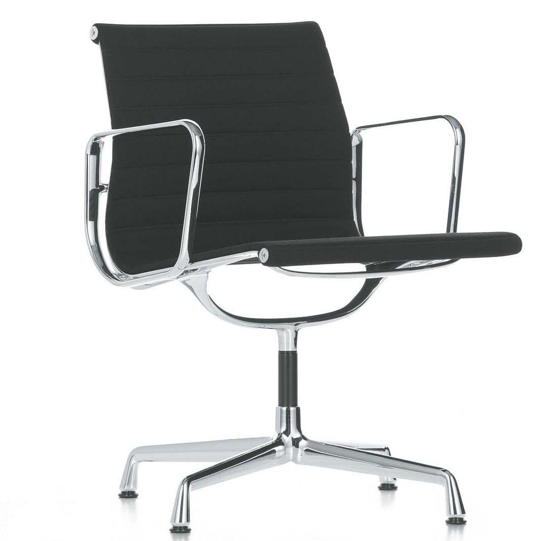 vitra ea aluminium chair silla de oficina fabric hopsak black