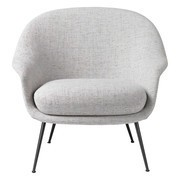 Gubi - Bat Lounge Chair niedrig Gestell schwarz